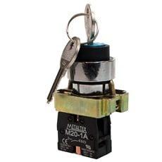 Ela Eletro Araguari BOTAO COMAN.C/CHAVE M20KSR2-B-1A >1F BOTAO METALTEX