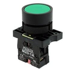 Ela Eletro Araguari BOTAO COMAN.P20BFR-G-1A S/RETEN..VD 1NA >1F BOTAO METALTEX