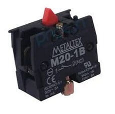 Ela Eletro Araguari BLOC CONT.M20-1B 1NF P/BOTAO M20/P20 >1F CONTATO METALTEX