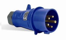 Ela Eletro Araguari PLUG N-4279 3P+T 32A 220V AZ >1E PLUG STECK