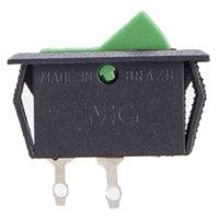 Interruptor Chave Tecla Unipolar 15123 6A Verde